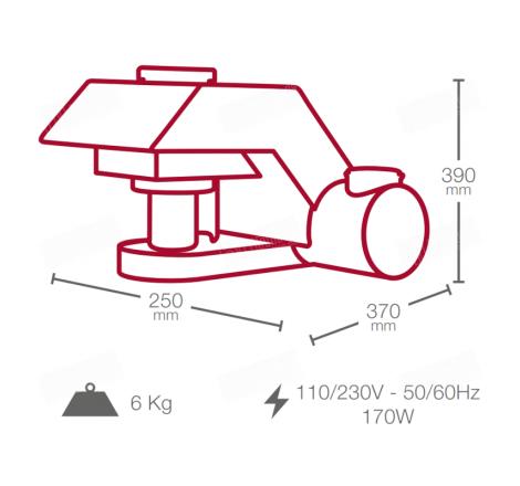 Esquema del equipo SDmatic para la medición del almidón dañado en harinas, trigos y sémolas