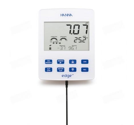 PHmetro portátil/sobremesa Edge HI 2002-20 para medir pH y ORP de semisólidos mediante electrodos digitales