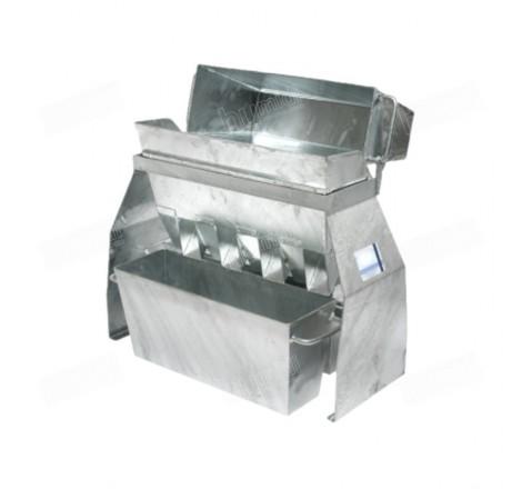 Divisor de muestras Haver RT 50 con cajones de acero galvanizado de 8 litros