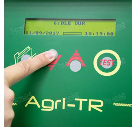 Pantalla de resultados de Humidímetro Agri-TR