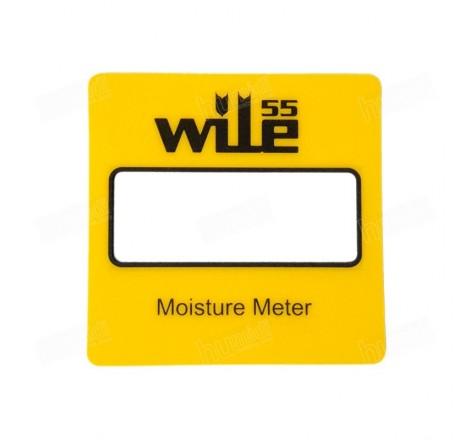 Etiqueta amarilla para el frontal de la carcasa del equipo Wile 55 de Farmcomp