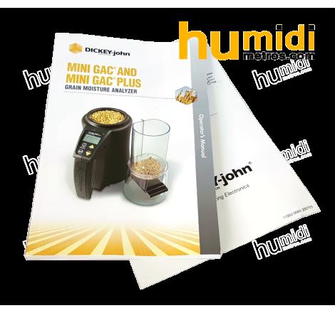 Manual de medidor de humedad portátil Mini GAC® Plus especial frutos secos