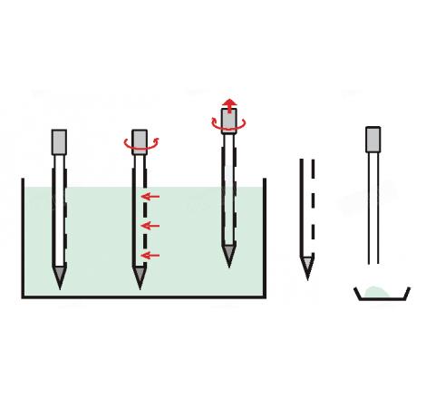 Sondas tomamuestras de un solo uso para tomar muestras rápidamente y a tres niveles de productos pulverulentos y granulares